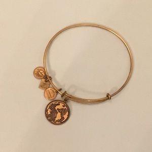 Alex and ani  bracelet like new HOLLY CHARM HTF